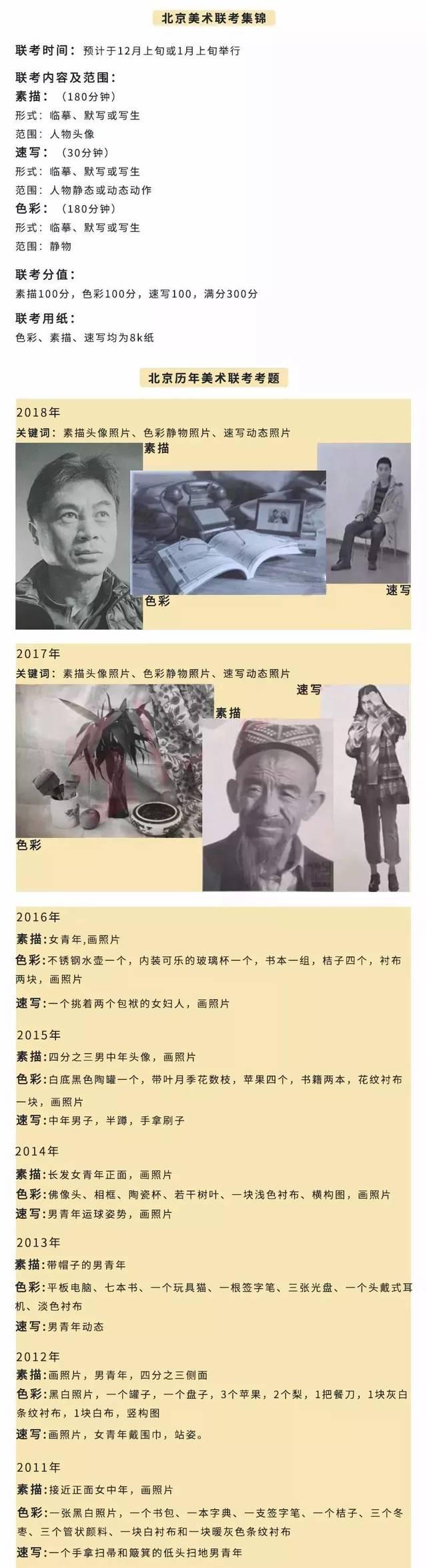 联考资讯2019年美术联考报名及省统考时间汇总_北京赛车规律