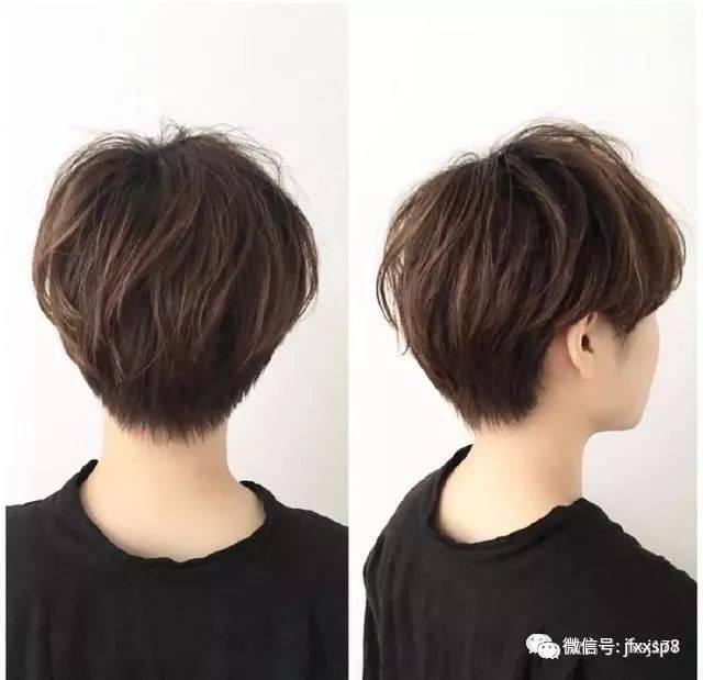 超短发的剪裁显得妹子的头型更立体, 后脑勺也变得不再扁平,非常好看.