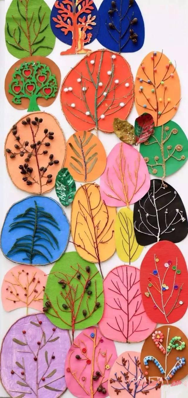 超美秋季主题环创来啦,主题墙,吊饰,家园栏,树叶创意画全齐了!图片