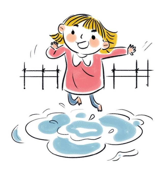 雨后,我在水洼里蹦蹦跳跳.图片