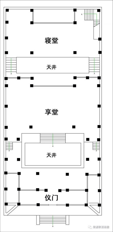 俞氏宗祠的平面图 (绘制:李健)