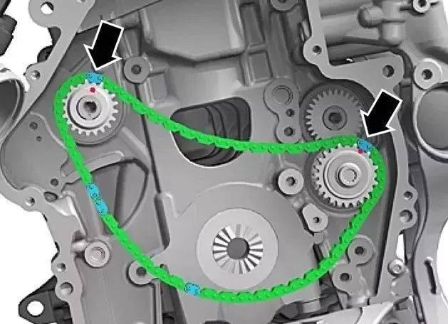 【正时】大众ea888发动机正时链条和高压油泵安装拆解