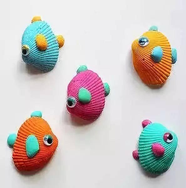 粘土动物手工制作小鱼