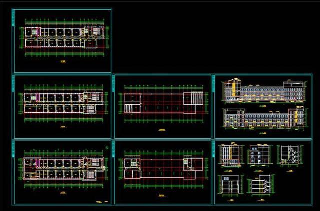 cad设计资源:800套cad设计图纸,酒店/学校/居民楼,可直接套用!