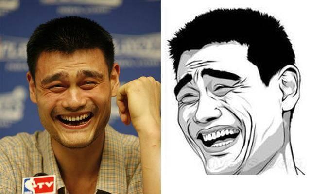 姚明大哥的笑容,太经典都被做成表情包了.图片