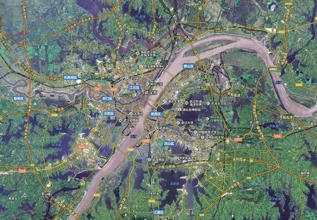 武汉卫星地图图片