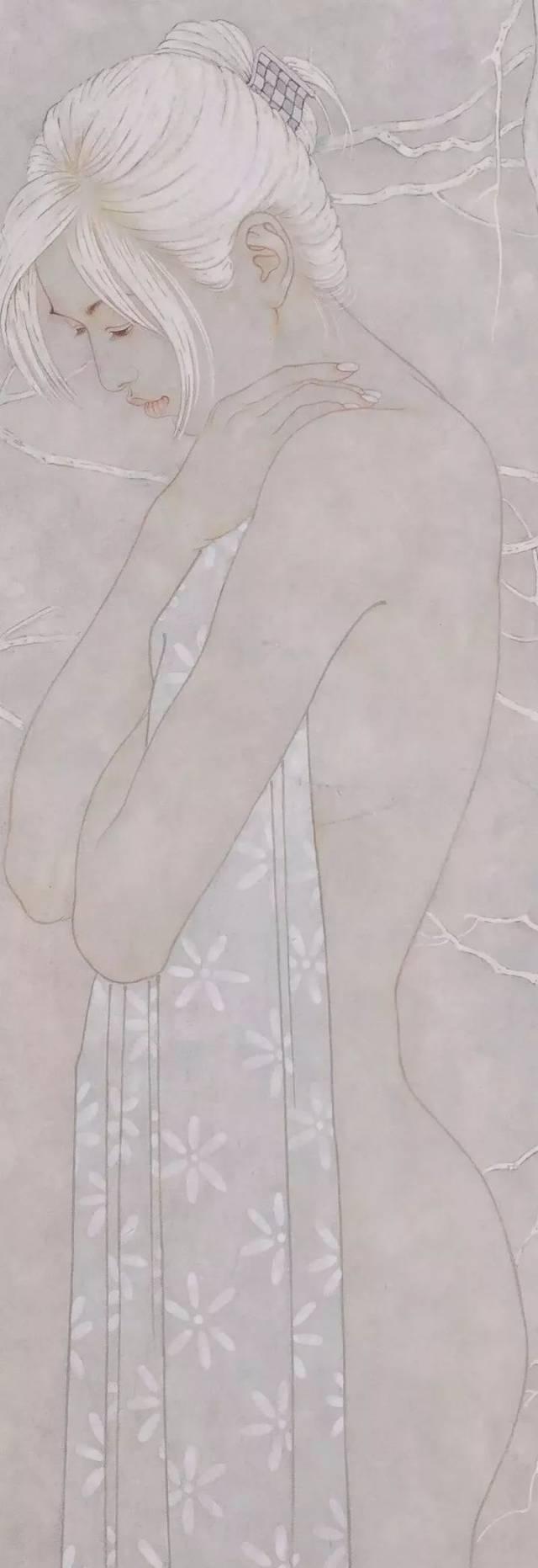 勾线的步骤充满人物的流技法图解作画时间工笔画的档位:衣冠,晕染博瑞动感上色图片