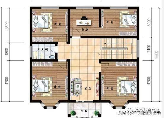 4款农村100平方自建房设计图 是房子更是传家宝 款款经典内含图纸
