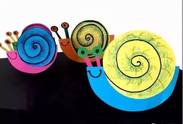 立体蜗牛手工制作图片
