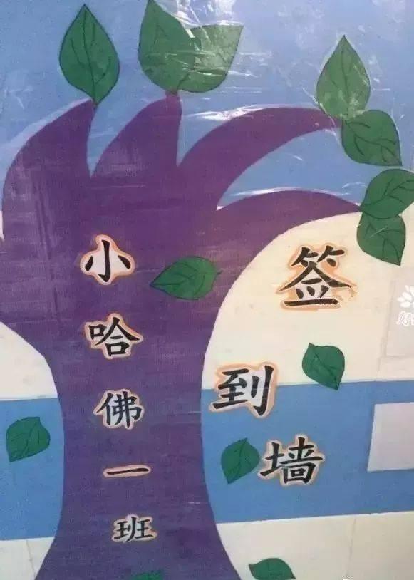 幼儿园晨检卡,签到墙设计,全勤宝宝在这里