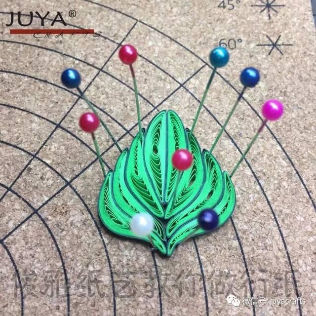 10针树叶花的编织图解