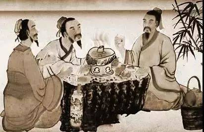 宋 代 涮锅前身——拨霞供 除此之外,在南宋林洪所著《山家清供》中图片