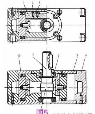 气缸内部结构示意图