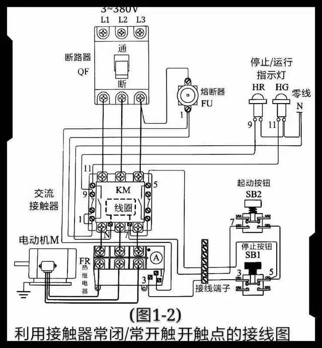 利用指示灯,如何来显示交流接触器和监视热继电器的工作状态?
