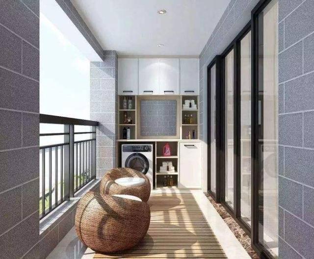 阳台洗衣柜效果图12