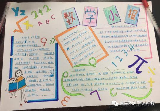 快乐学习,数学在我身边 ——记龙小数学手抄报竞赛活动