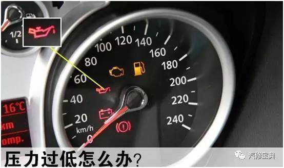 05mpa,机油压力警报灯闪亮.其原因主要有: 1.