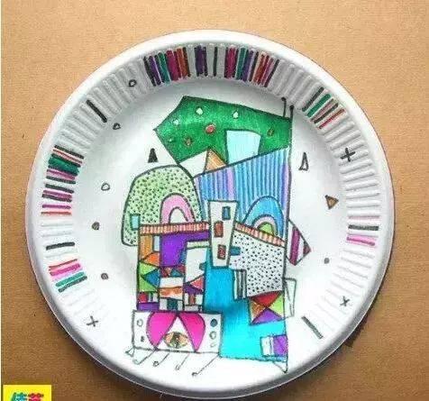 纸盘做钟手工制作图片