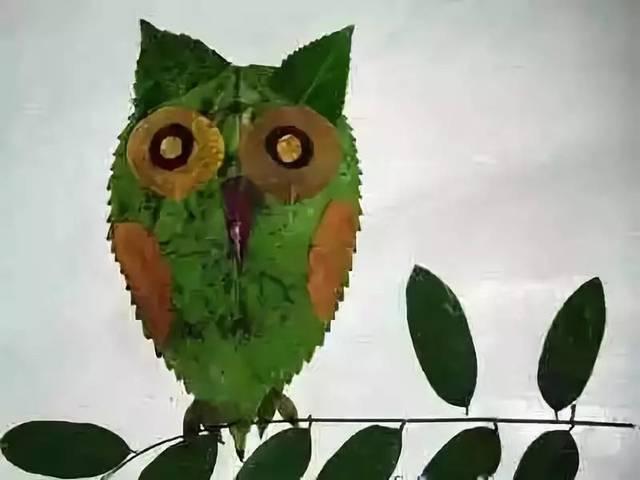 砺智小橘灯作文优秀作品选登——《树叶贴画》图片