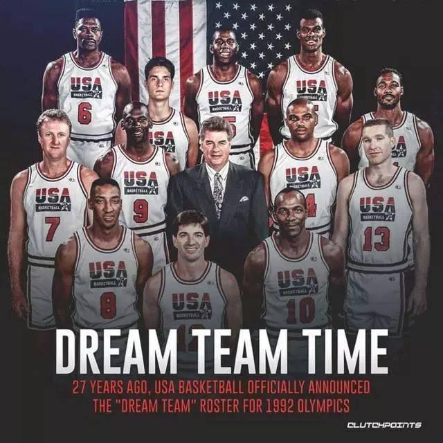 置身事外 -篮球服复刻历史经典-  1992年9月28日  美国梦一队 由