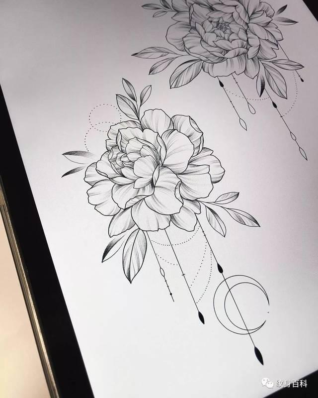 当然,这种截断纹身手稿的方式,并不局限于素花纹身,其他的手稿,也都是图片