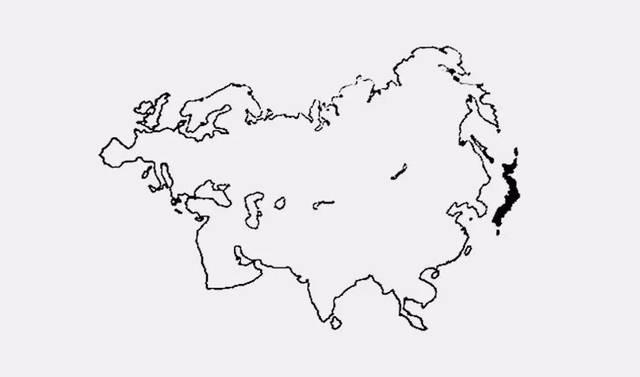 这是一个世界地图,大家看到日本的地理位置是在亚欧大陆最右端,处在
