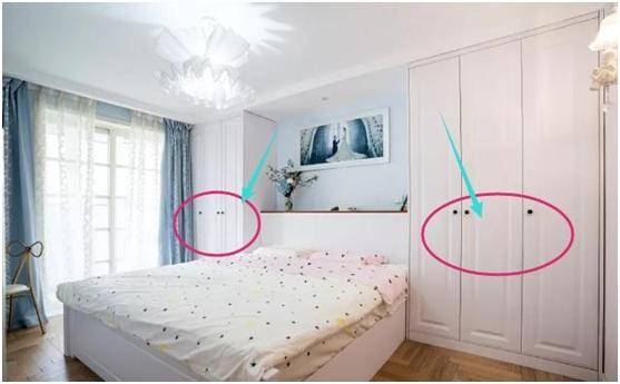 媳妇坚持阳台改次卧,床头两侧定制衣柜,很实用!忍不住图片