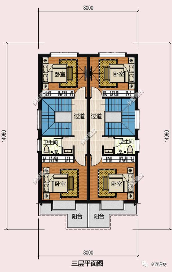8x15米自建房设计图