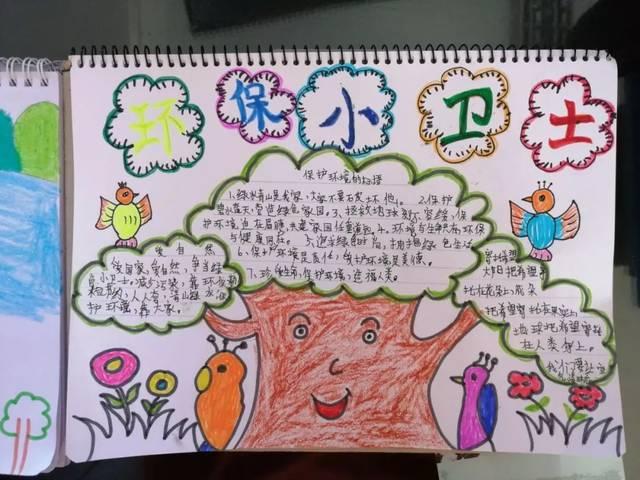同学们通过创作图文并茂的环保手抄报,表达自己的环保理念.