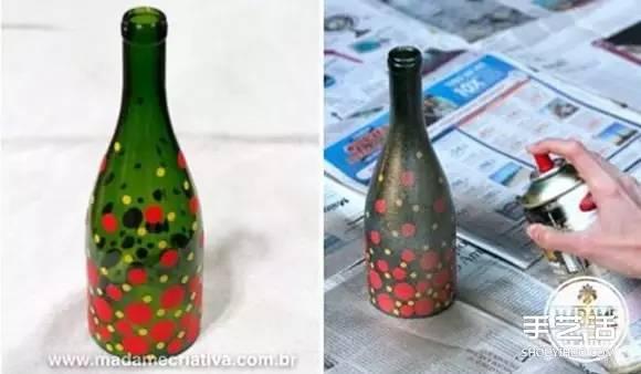 啤酒瓶差不多是最常见的玻璃瓶了,以前貌似还可以拿回售酒小店退钱,现在基本就是直接丢垃圾桶。看着完好无损的玻璃瓶这样处理,有时想想也真是可惜!  利用啤酒瓶DIY制作精美烛台的教程,简单处理就能让玻璃瓶变得异常精美,爱不释手的节奏啊有木有~  把棉线粘油性洗甲水后,绑到玻璃瓶上,点燃烧上一段时间,放入冰水即可切割好(如果还不明白可以看这里)。
