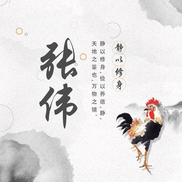 十二生肖版微信头像,姓氏头像,中国风水墨风格,你喜欢图片