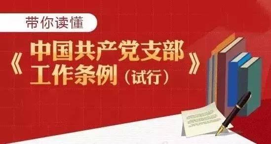 图解《中国共产党支部工作条例(试行)》
