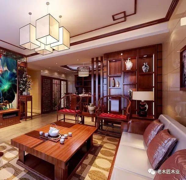 新中式客厅设计效果图,重塑传统优雅之美!