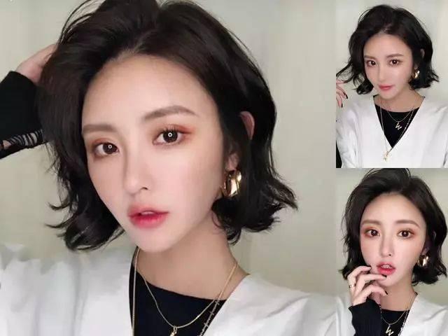 2019年最流行的短发烫发型,适合25-30岁女人短发最新烫发型图!图片
