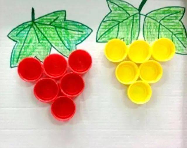 手工制作画葡萄