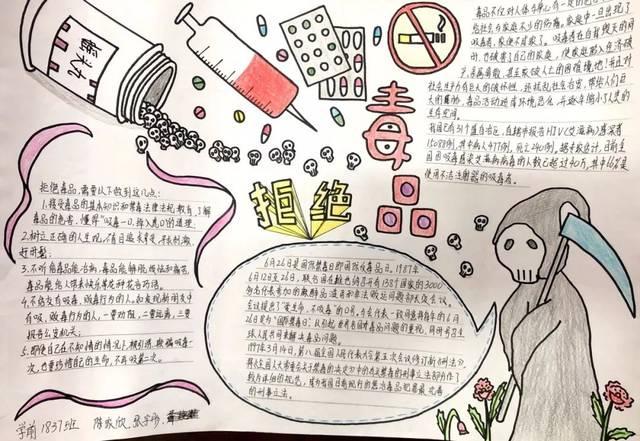 【禁毒教育】漳州一职校开展禁毒知识手抄报评比活动