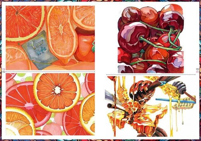 川美设计色彩2018范画图片