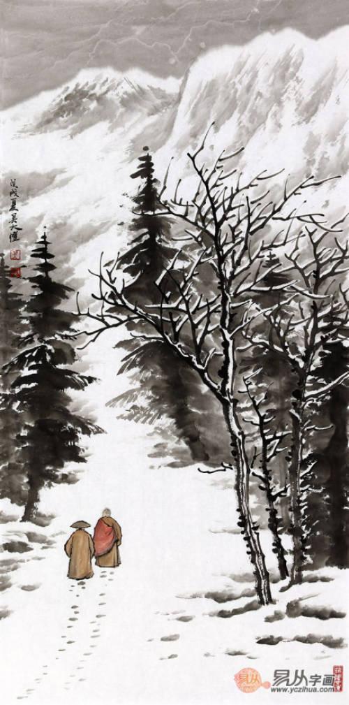 山水画家吴大恺的冰雪情缘,童话般的冰雪世界_手机图片