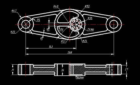 cad机械零件制图练习题