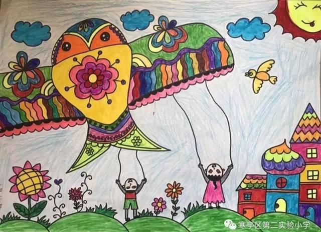 节如歌,绘画迎新年 ; 鸢如画,丹青点校园——寒亭区第图片