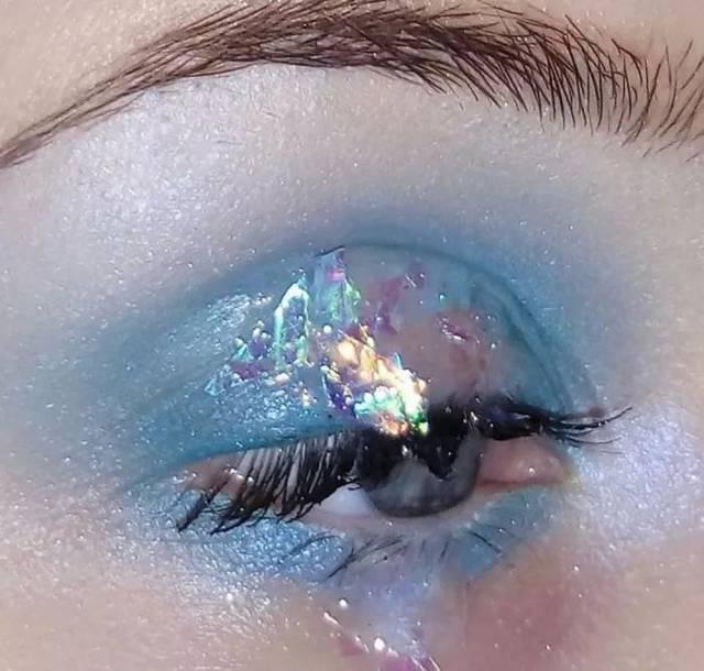 创意彩妆,眼妆,唇妆,亮片闪粉,无限色彩无限想象!图片
