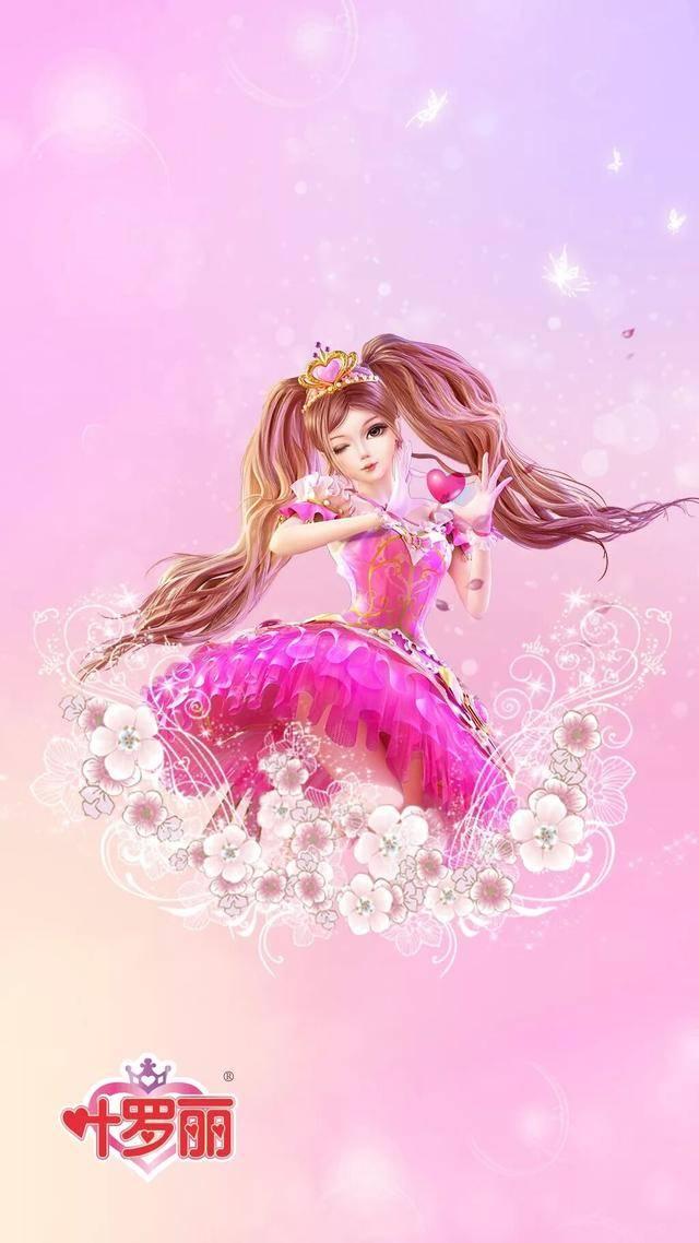 叶罗丽美少女壁纸,灵公主手拿小树枝,莫纱带上王冠秒变公主图片