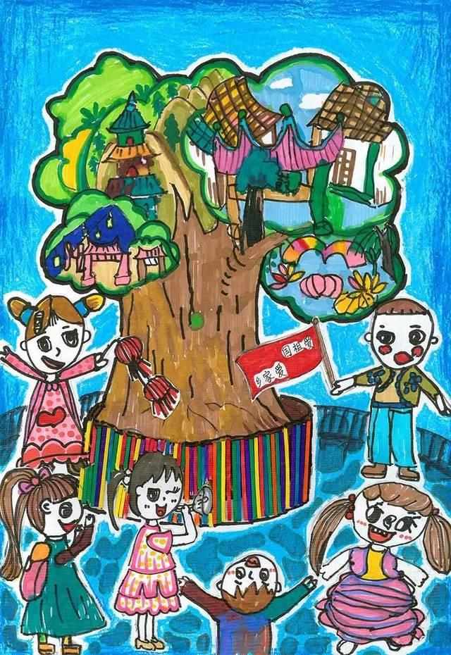 """晋安""""童画新时代 手绘价值观""""--社会主义核心价值观主题儿童创意画"""