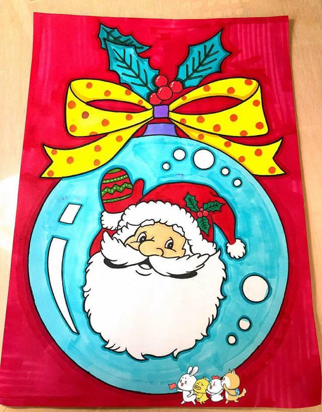 圣诞节主题创意儿童画课件作品