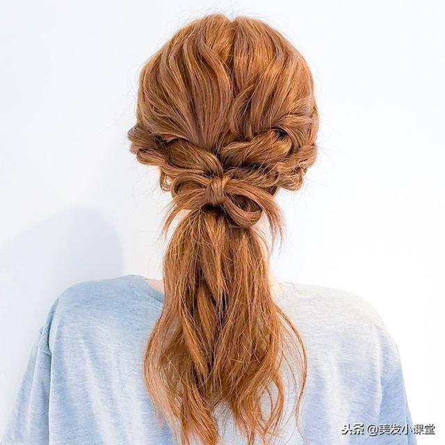 简单的编发发型,长发这样编优雅有气质图片