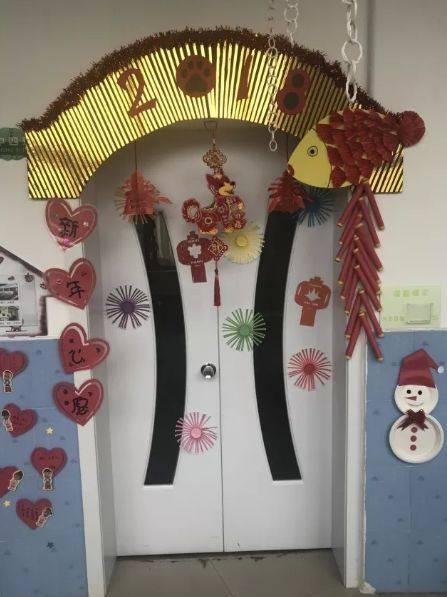 【元旦环创】幼儿园元旦环创设计欣赏,主题墙,吊饰,门