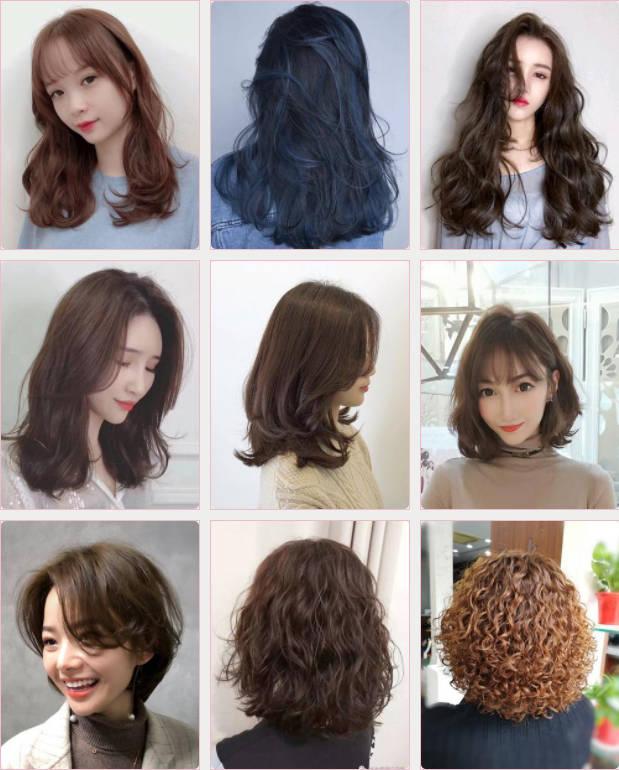 2019烫发发型图片女