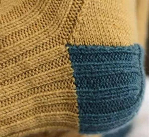 袜跟的织法