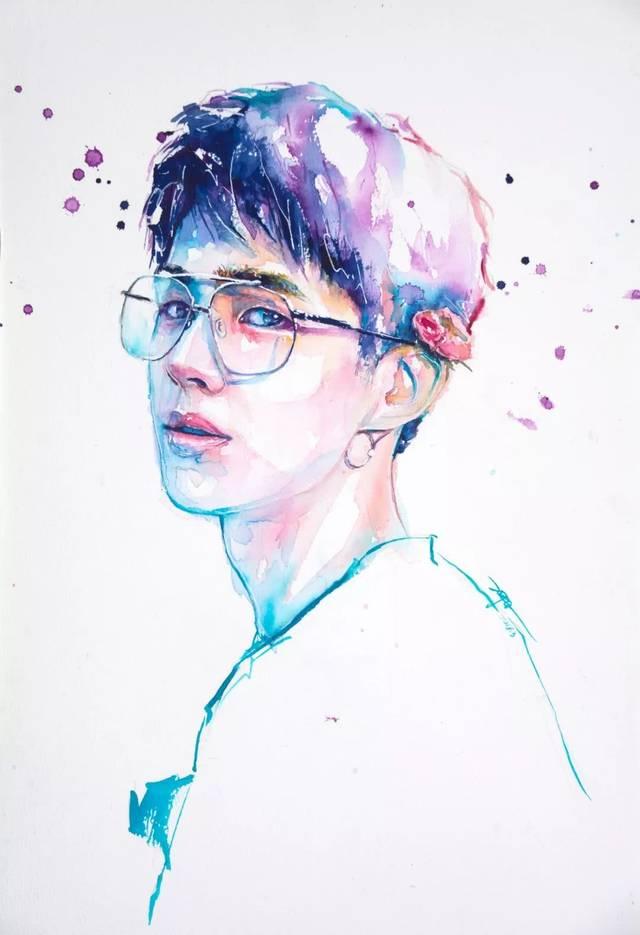 手绘| 水彩人物画之美