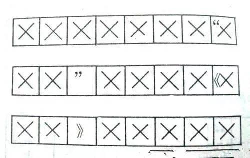 (2)引号和书名号的行末变通书写